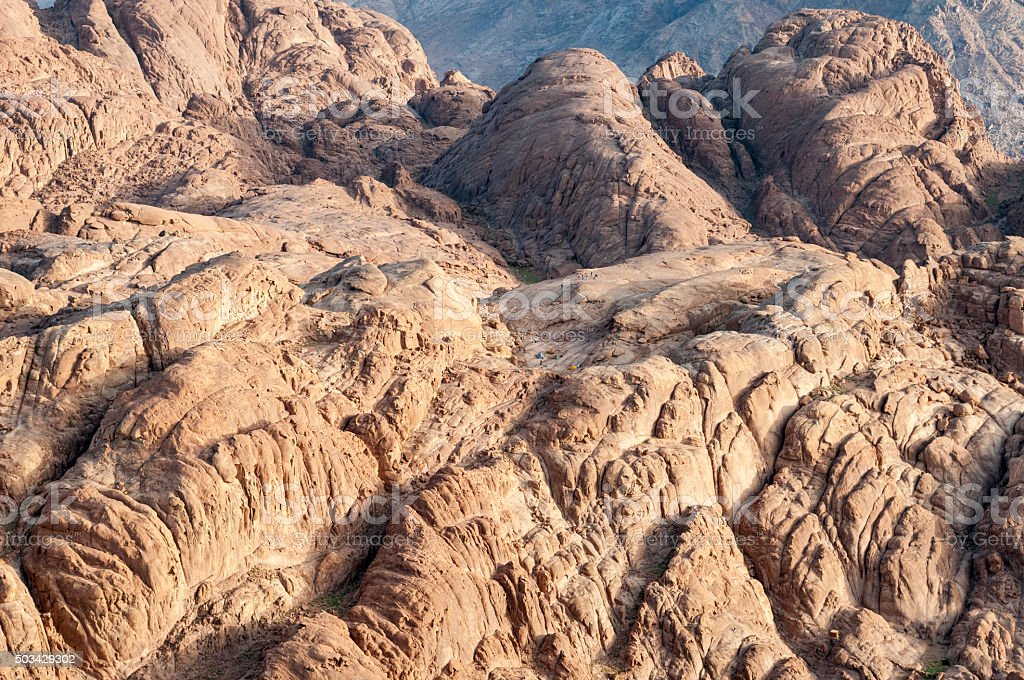 Mount Sinai landscape and camping stock photo