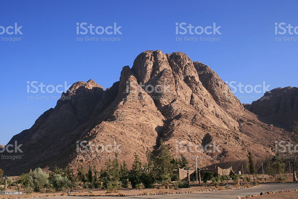 Mount Sinai on a sunny day with no clouds stock photo