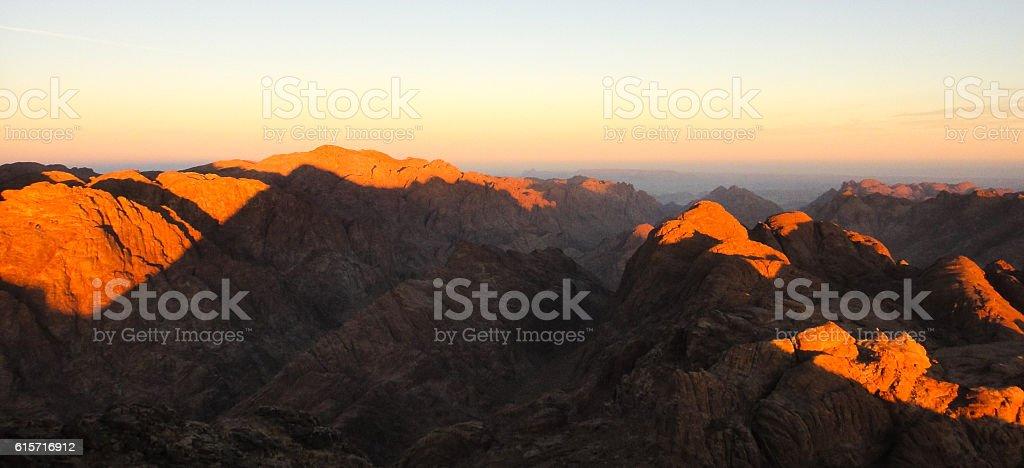Mount Sinai (Mount Horeb, Gabal Musa, Moses Mount) stock photo