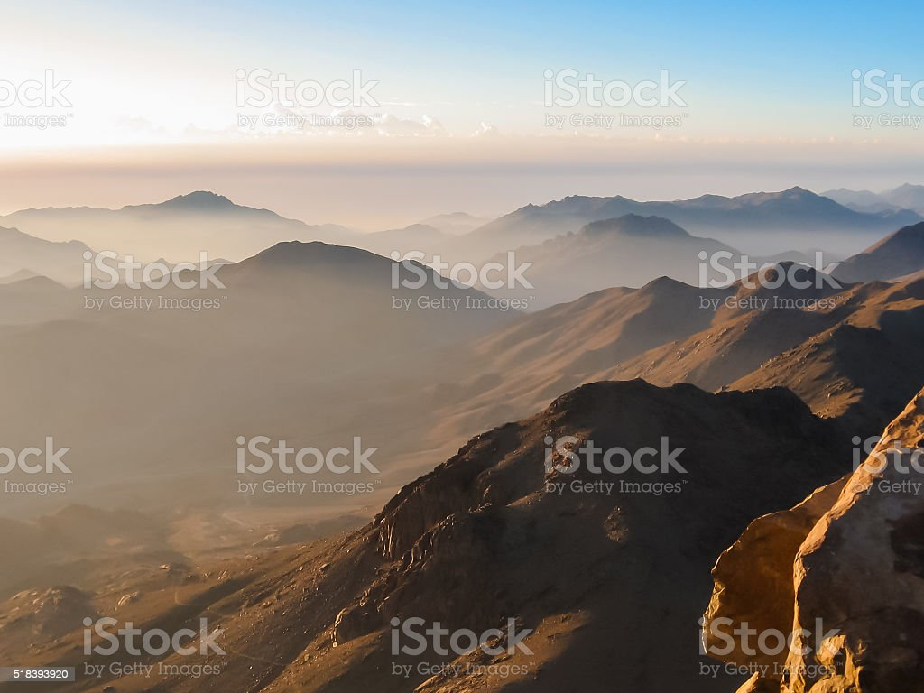 Mount Sinai summit stock photo