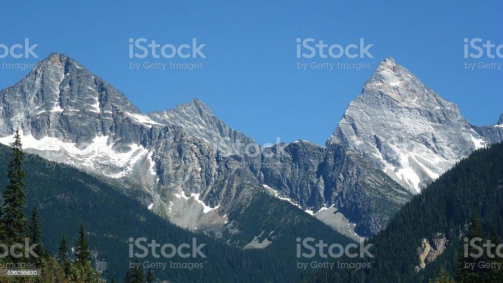 Mount Sir Donald Summit stock photo