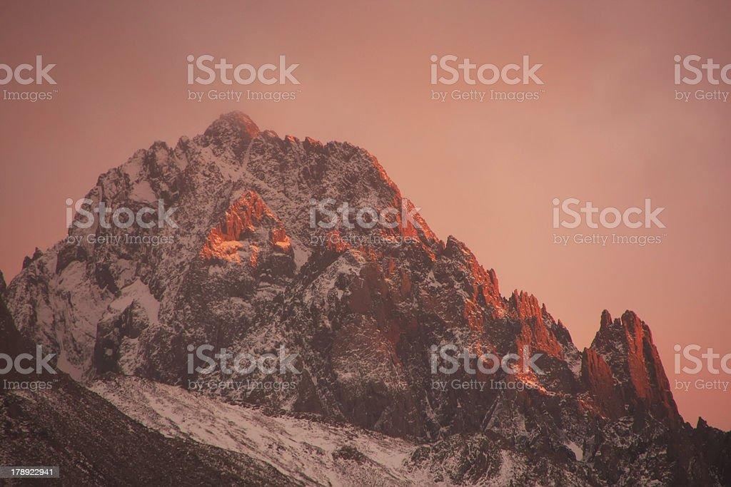 Mount Sneffels at sunrise, Colorado stock photo