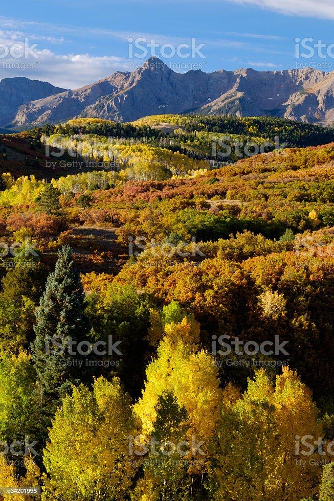 Mount Sneffels, Colorado stock photo