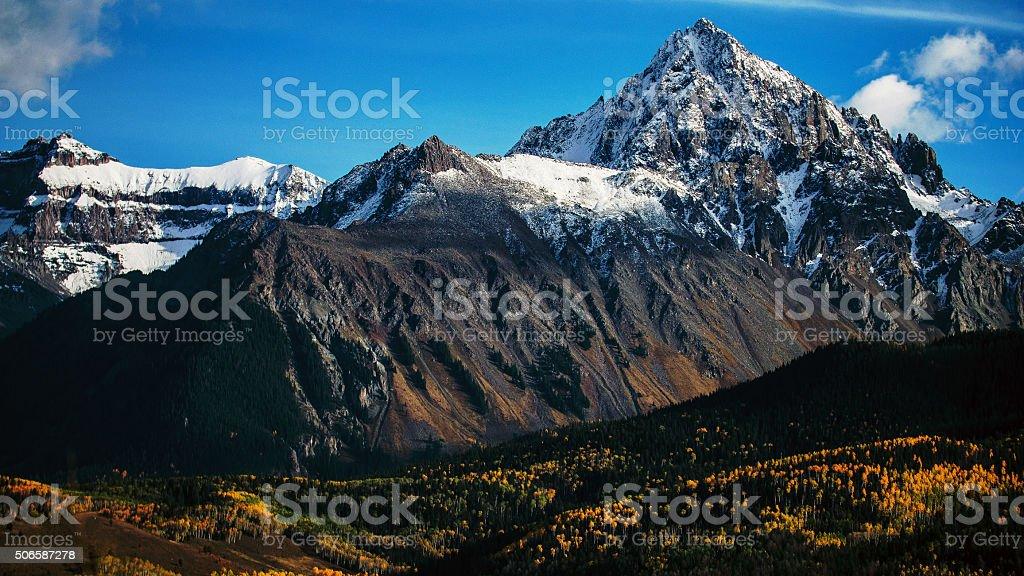 Mount Sneffels In Fall stock photo