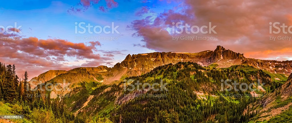 Mount Sneffels Panoramic stock photo