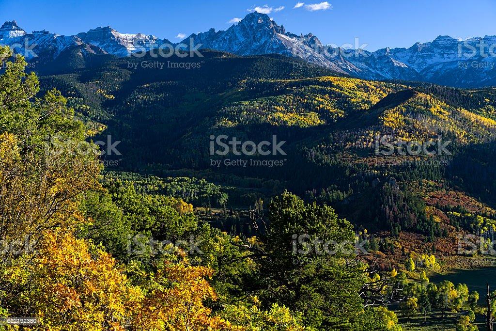 Mount Sneffels San Juan Mountains Colorado stock photo