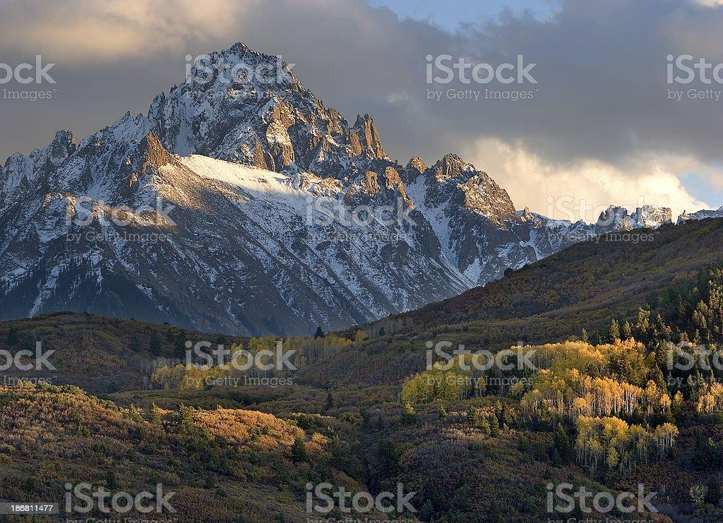 Mount Sneffles Autumn Evening stock photo