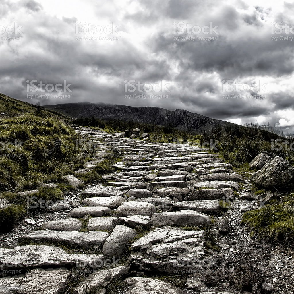 Mount Snowdon path royalty-free stock photo