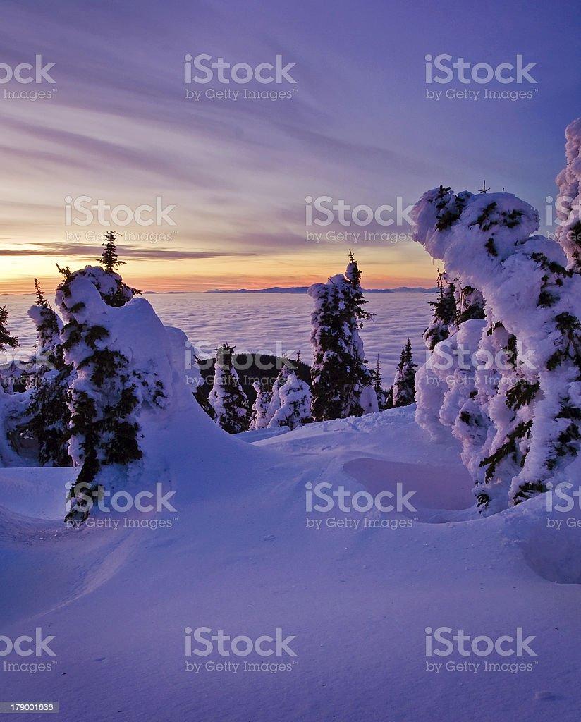 Mount Spokane Sunset#2 royalty-free stock photo