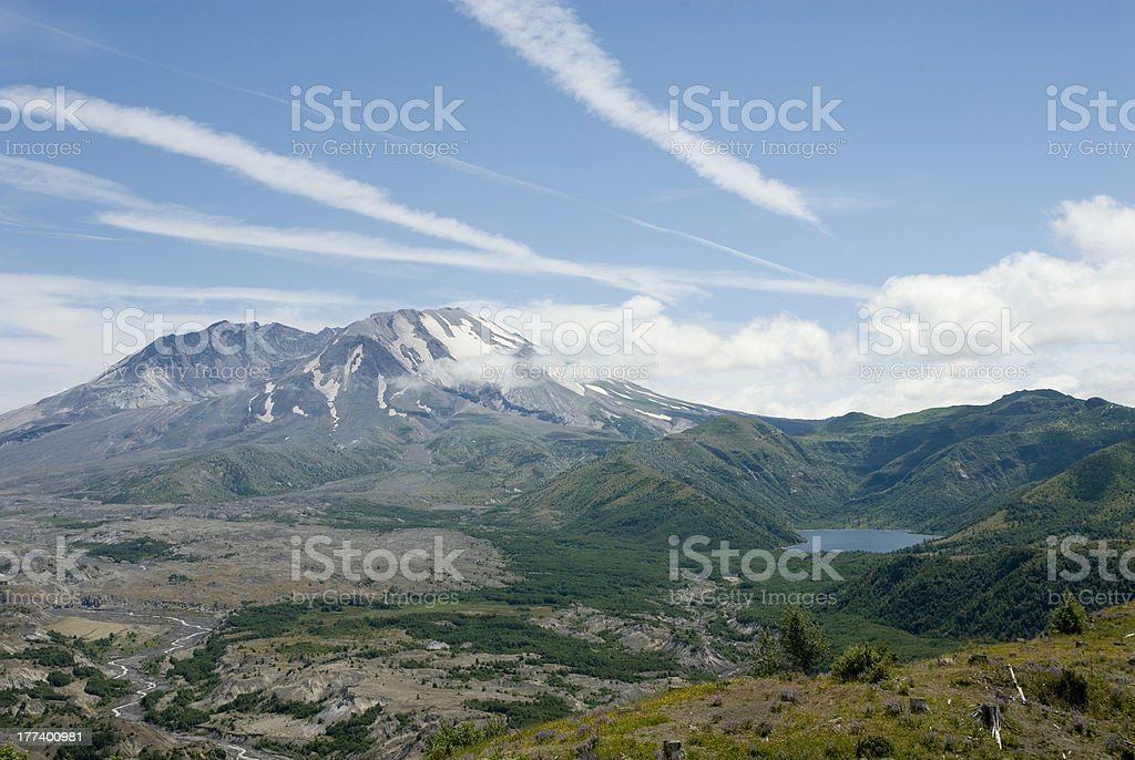 Mount St. Helens and Spirit Lake royalty-free stock photo