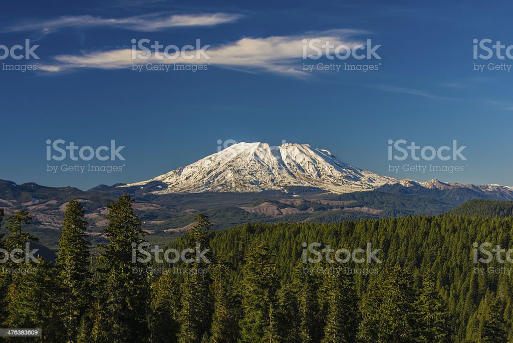 Mount St. Helens on a clear day stock photo
