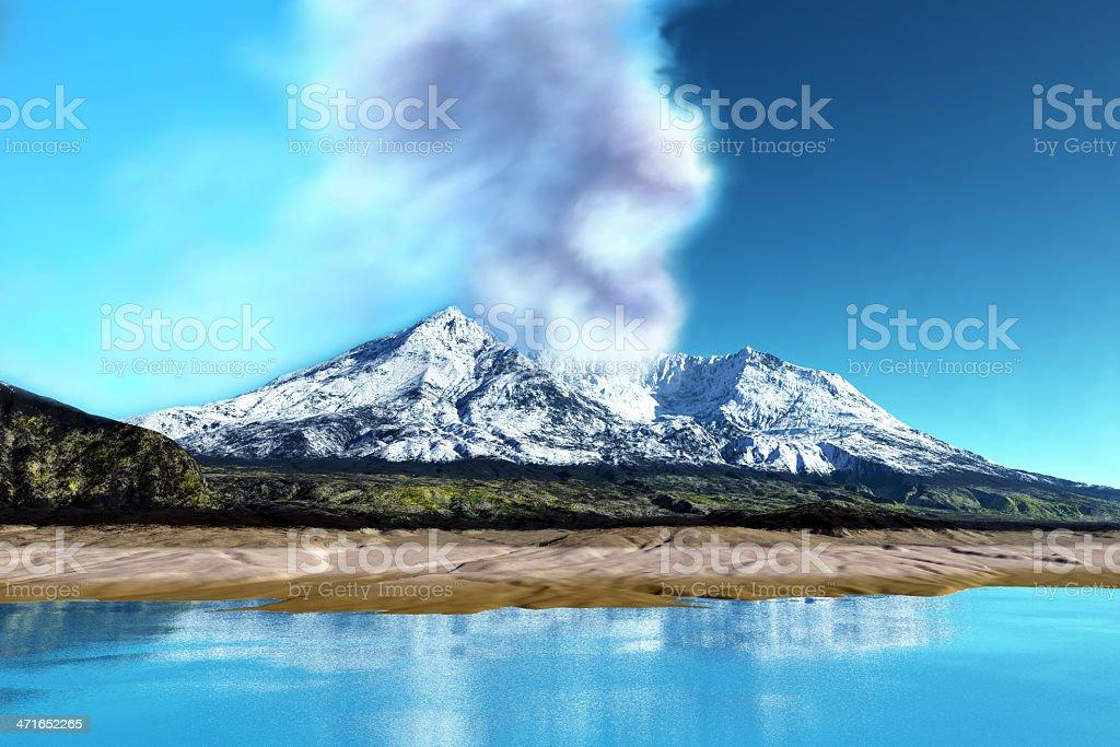 Mount St. Helens Volcano stock photo