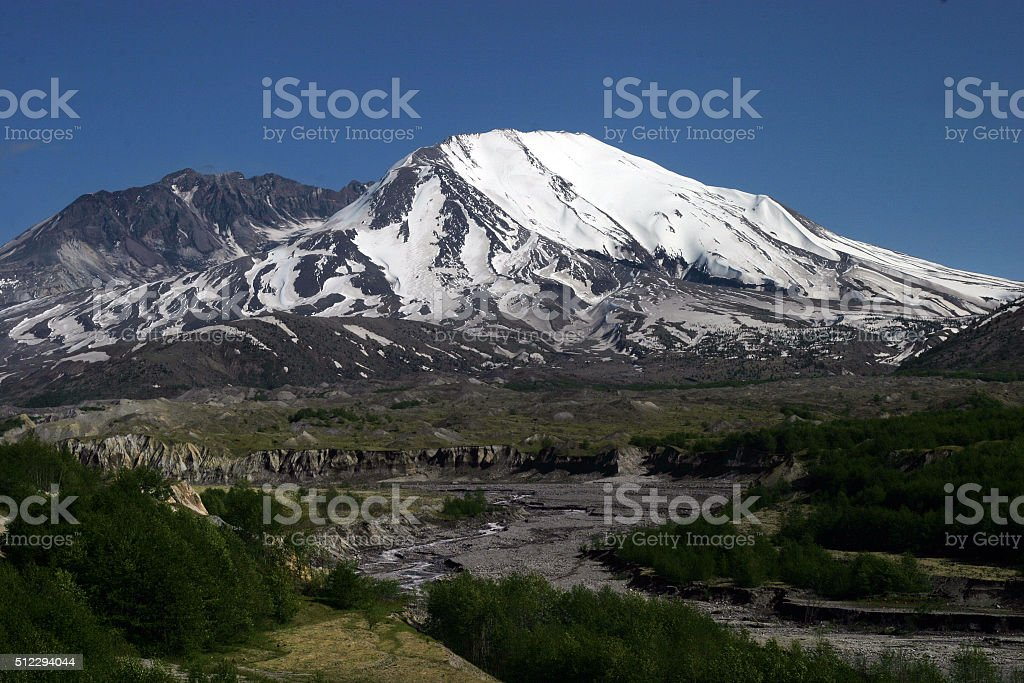 Mount St. Helens, Washington state, USA stock photo