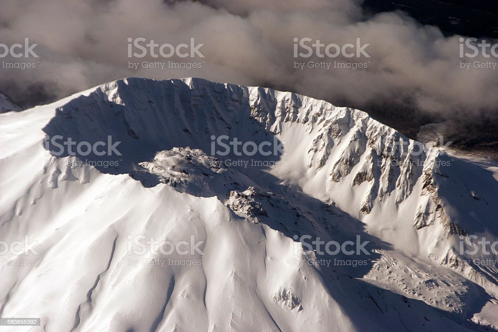 Mount St.Helen's crater stock photo