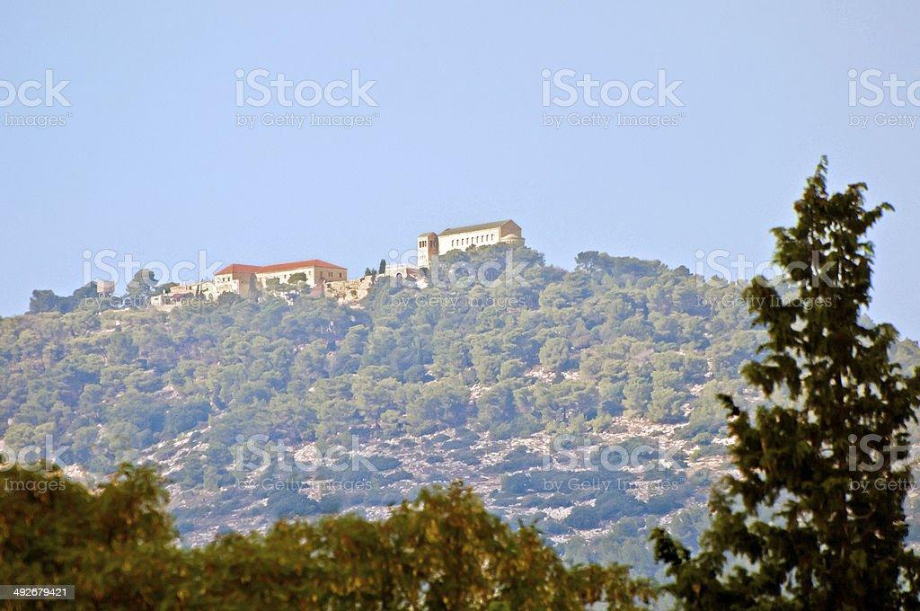 Mount Tabor church, Israel stock photo