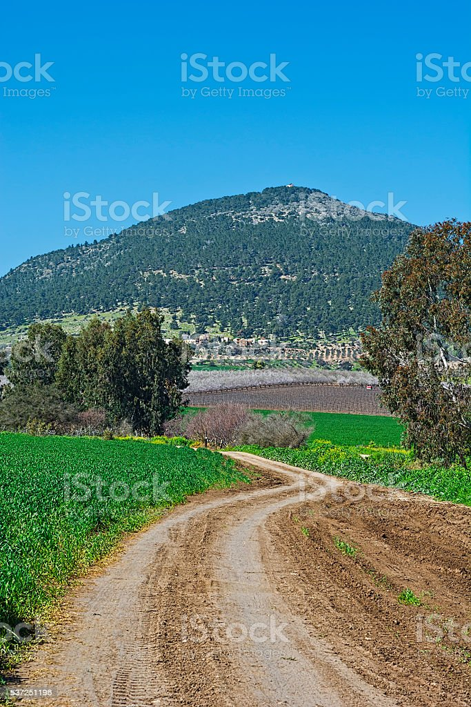 Mount Tabor in Israel stock photo