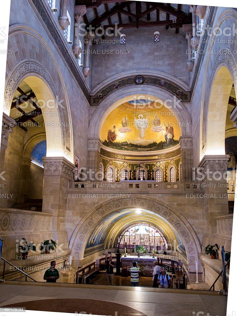 Mount Tabor, Israel Church of the Transfiguration stock photo