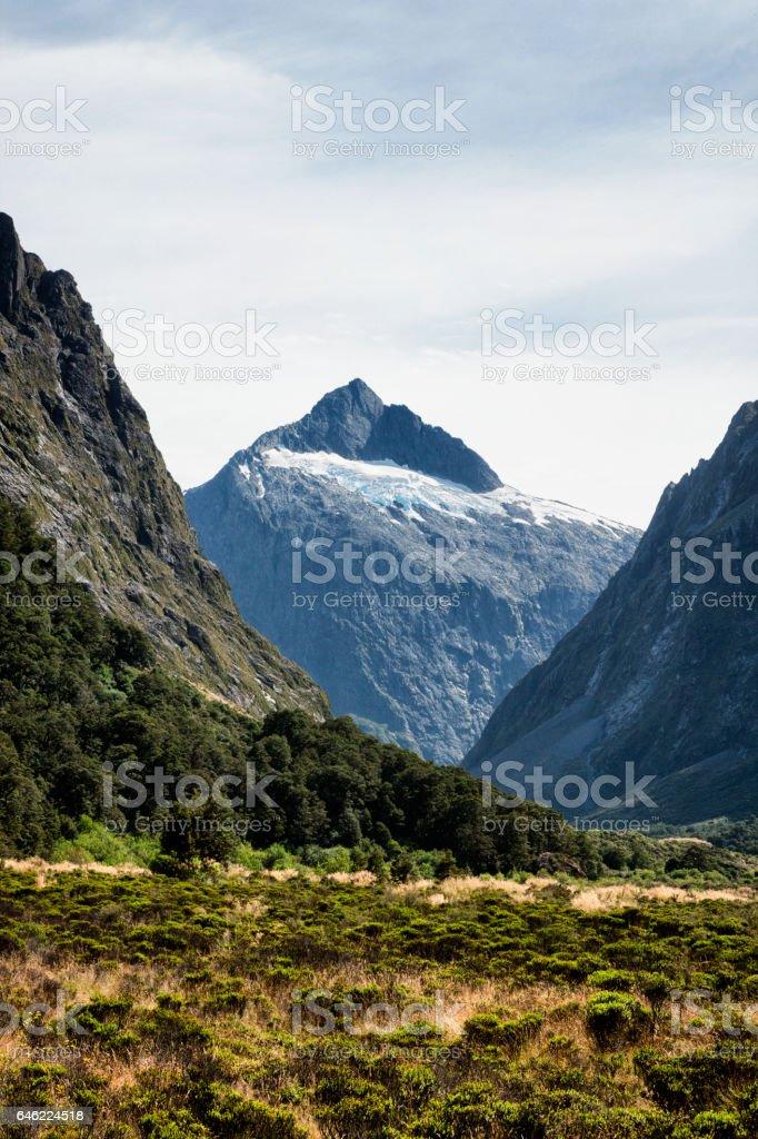 Mount Talbot in Fiordland National Park, New Zealand stock photo