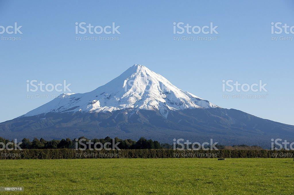 Mount Taranaki in late afternoon Sun stock photo