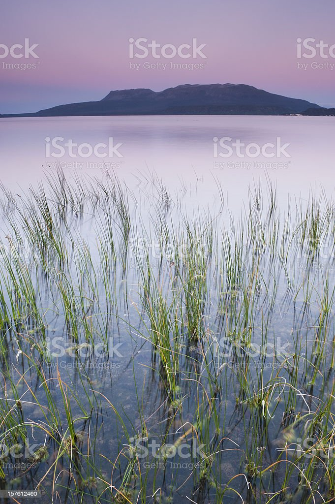 Mount Tarawera stock photo