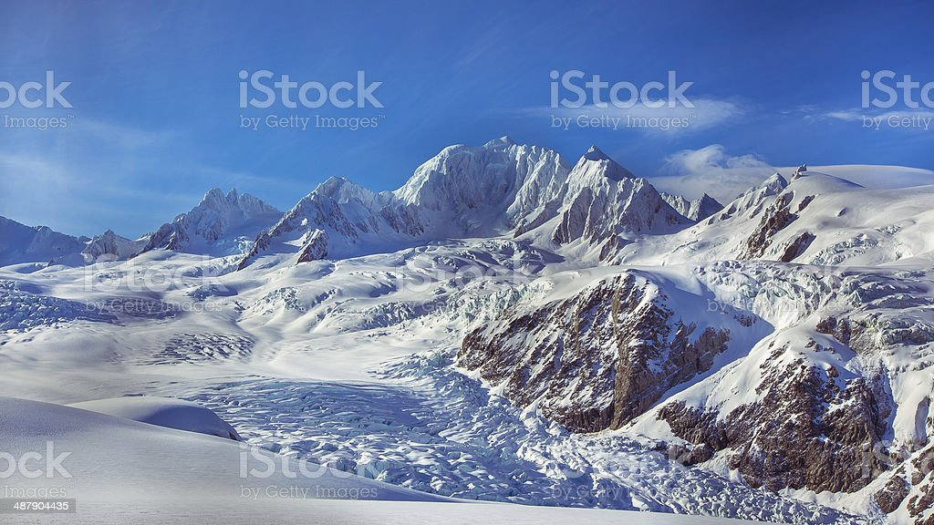 Mount Tasman stock photo