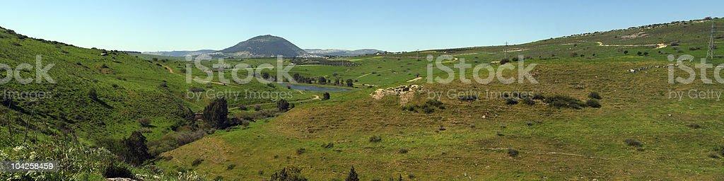 Mount tavor, Israel panorama stock photo