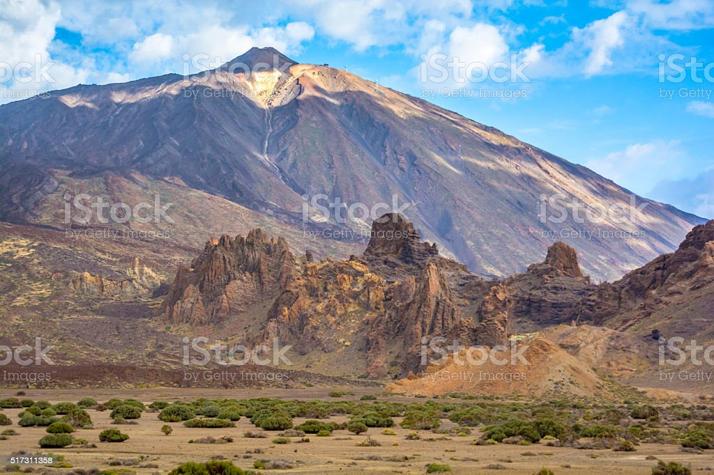 Mount Teide a volcano on Tenerife in the Canary Islands stock photo