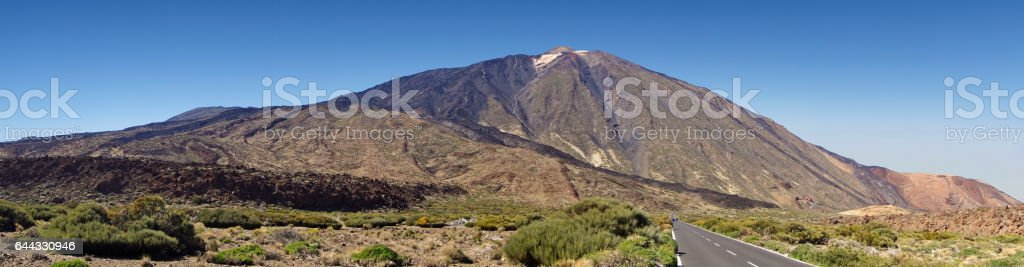 Mount Teide on Canary Islands stock photo