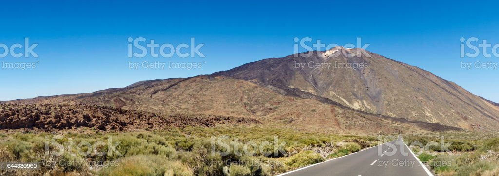 Mount Teide on Canary Islands stock photo