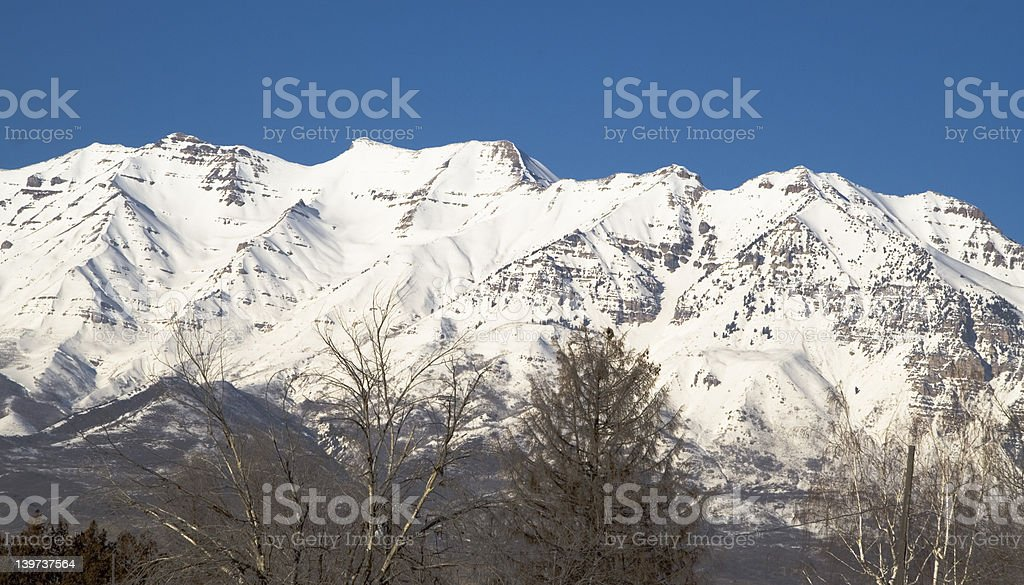 Mount Timpanogos from the Southwest stock photo