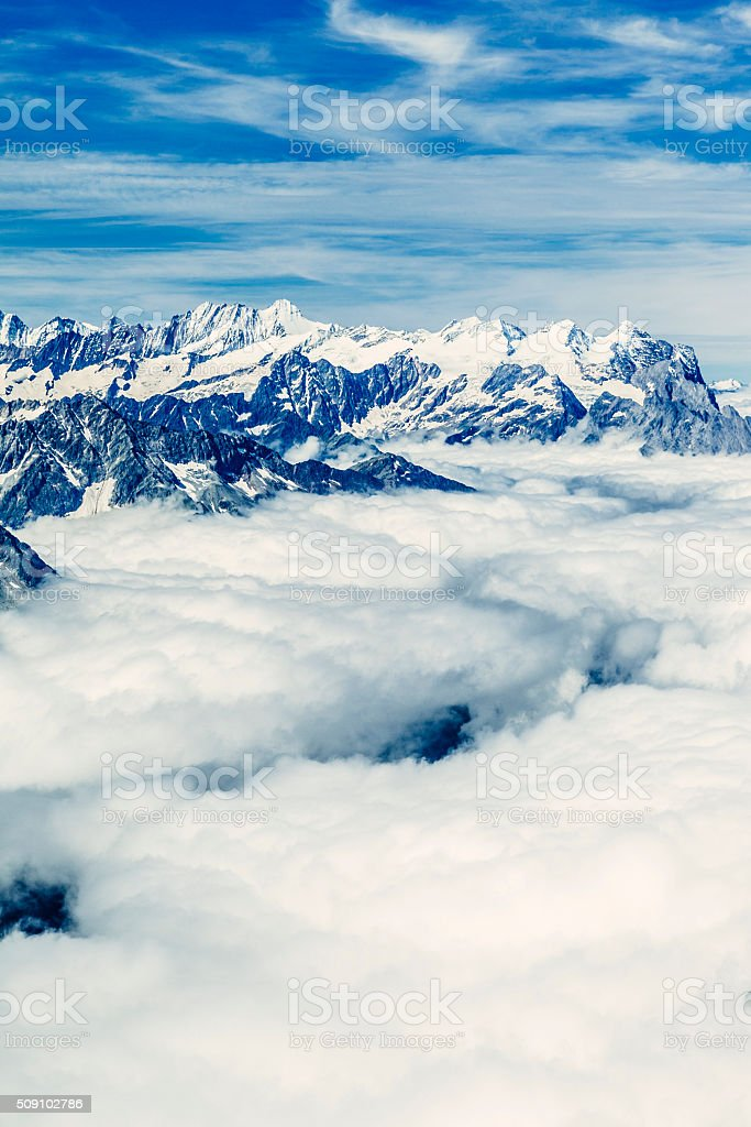 Mount Titlis viewpoint, Switzerland stock photo