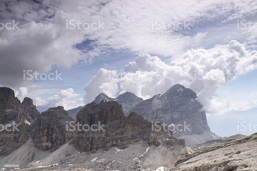 Mount Tofana Di Rozes stock photo