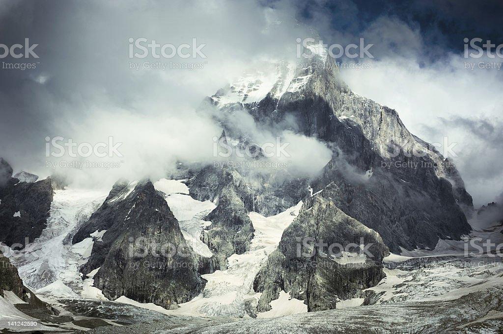 Mount Ushba royalty-free stock photo