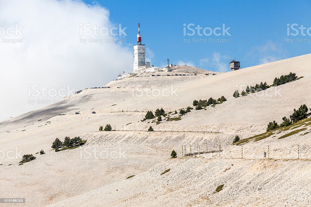 Mount Ventoux, 1912m. stock photo