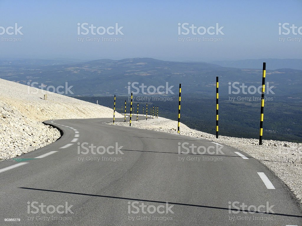 Mount Ventoux, by Bedoin stock photo