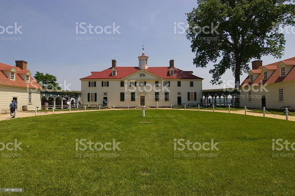 Mount Vernon George Washington's estate stock photo