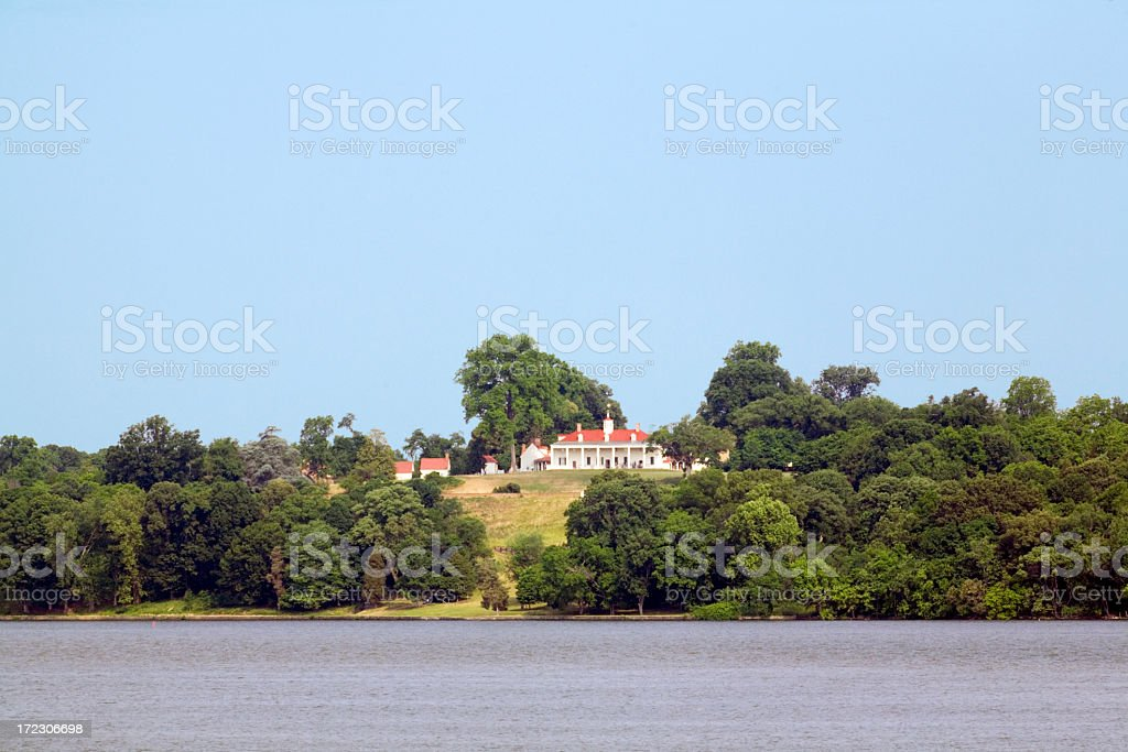 Mount Vernon On The Potomac stock photo