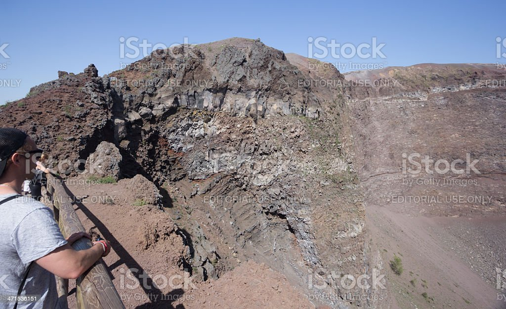 Mount Vesuvius in Naples, Italy royalty-free stock photo