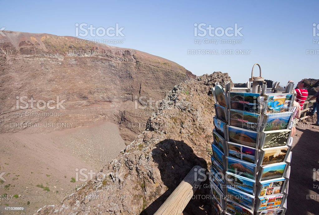 Mount Vesuvius in Naples, Italy royalty-free stock photo