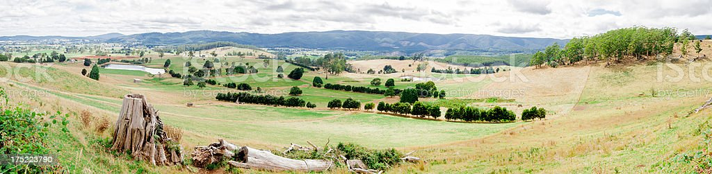 Mount Victoria Farmland stock photo