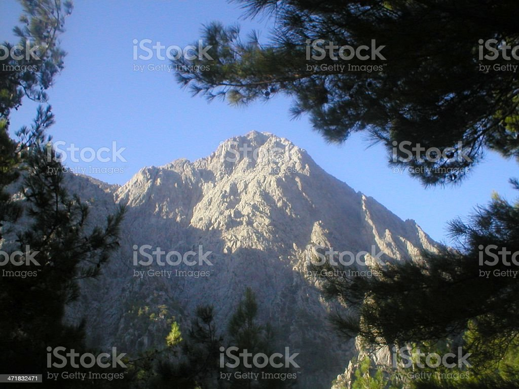 Mount Volakis overlooking Samaria gorge, Crete stock photo