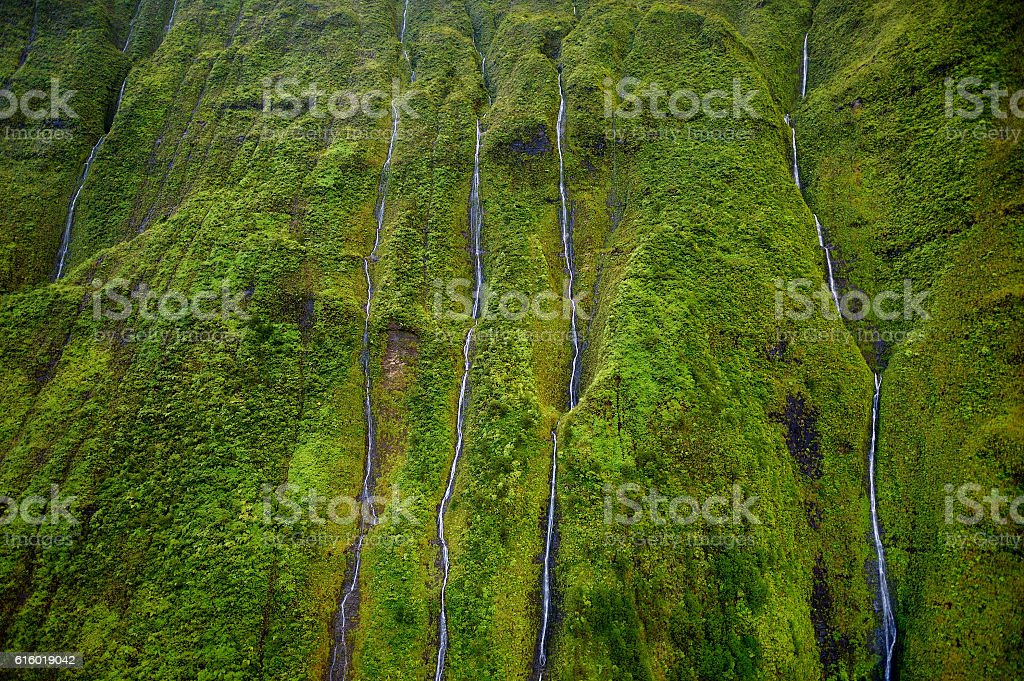 Mount Waialeale, Kauai, Hawaii stock photo