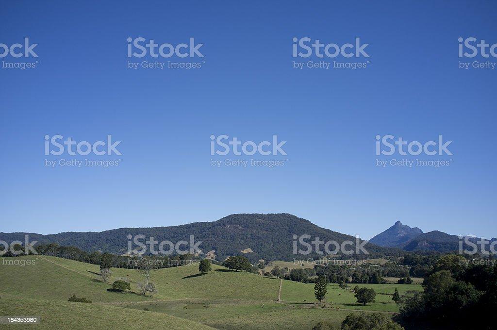 Mount Warning Hills stock photo