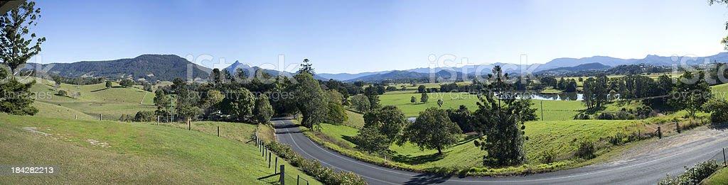 Mount Warning Road, Murwillumbah, Australia stock photo