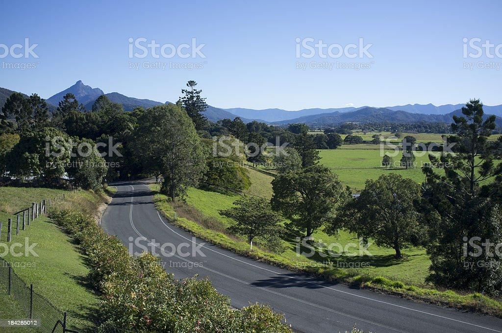 Mount Warning Road stock photo