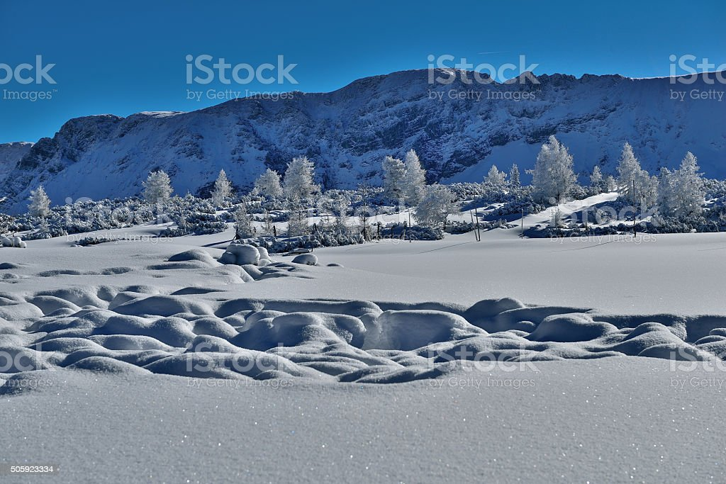 Mount Warscheneck & Kreuzspitze in Upper Austria stock photo