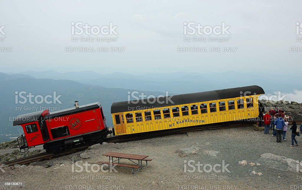 Mount Washington Cog Railway Train stock photo