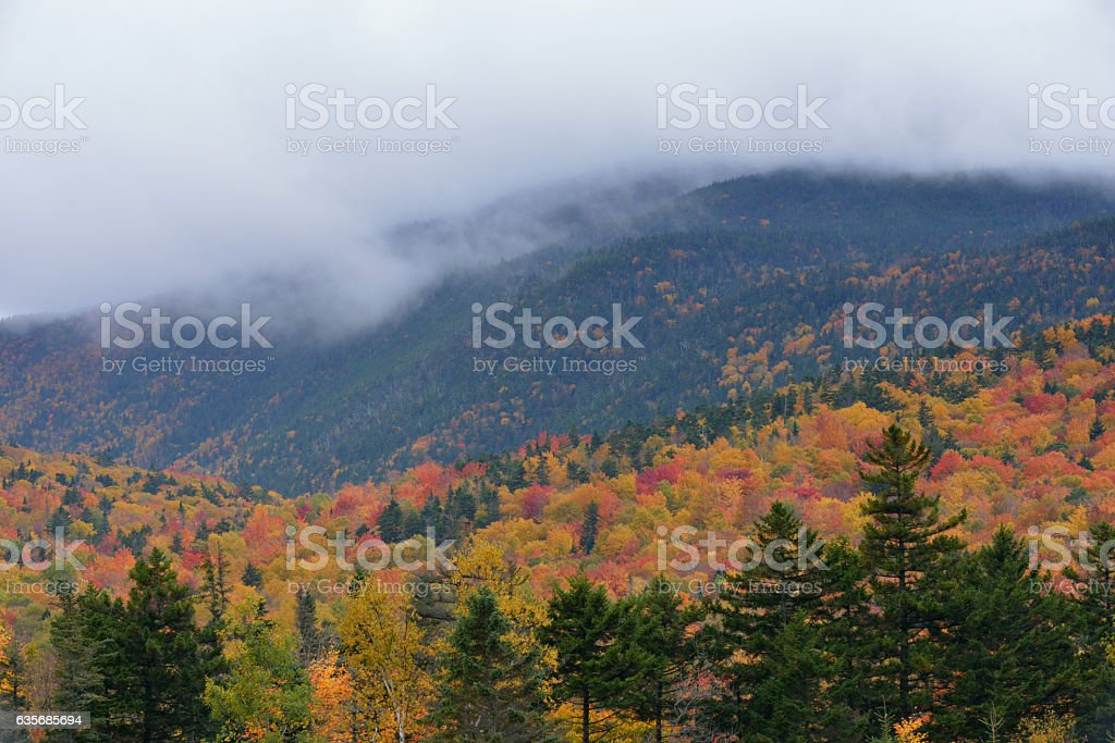 Mount Washington in Fall stock photo