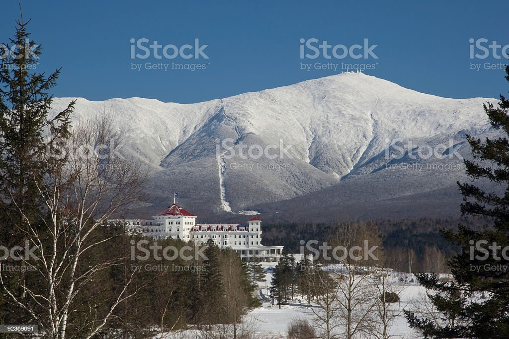 Mount Washington in Winter stock photo