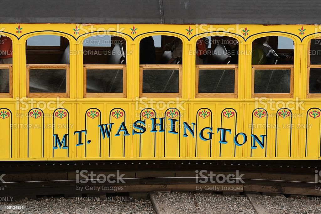 Mount Washington Passenger Car stock photo